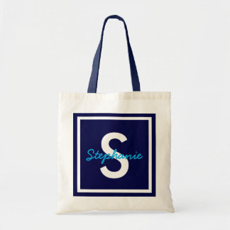 Blue Monogram Personalized