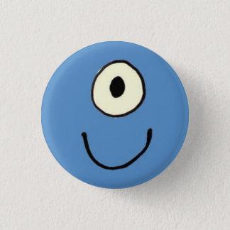 Blue Monster 3 Cm Round Badge