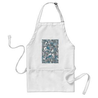 Blue monster apron
