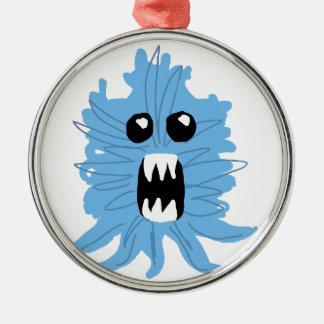 Blue Monster Baby Shirt Metal Ornament