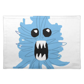 Blue Monster Baby Shirt Placemat