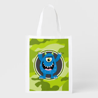 Blue Monster; bright green camo, camouflage