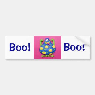 Blue Monster Bumper Sticker