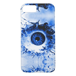 Blue Monster Eye Watcher Horror Show iPhone 7 Case
