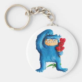 Blue Monster Ice Cream Key Chains