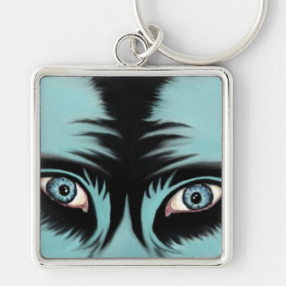 Blue Monster Key Chain
