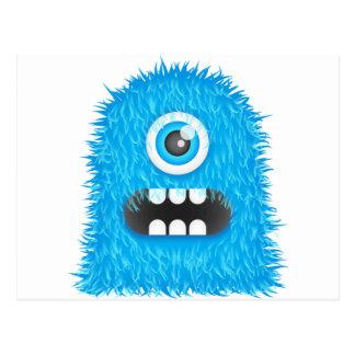 Blue Monster Postcard