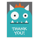 Blue Monster Thank You Greeting Cards