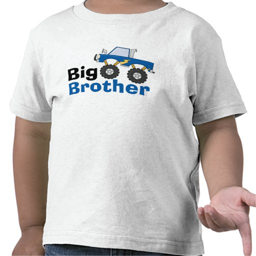 Blue Monster Truck Big Brother T-shirts