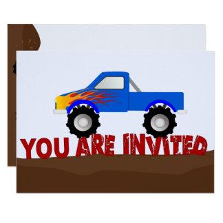 Blue Monster Truck Invitation