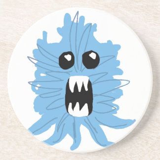 Blue Monster Wrapping Paper Coaster