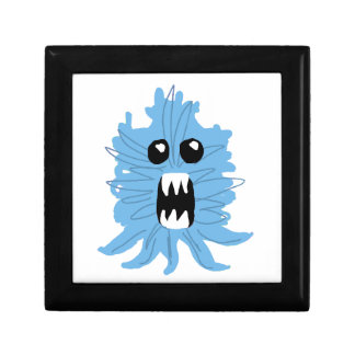 Blue Monster Wrapping Paper Gift Box