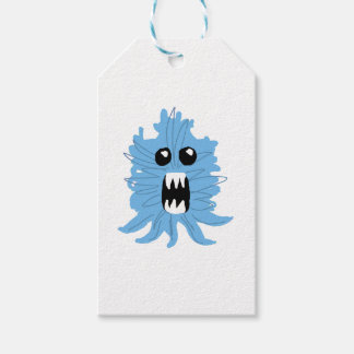 Blue Monster Wrapping Paper Gift Tags