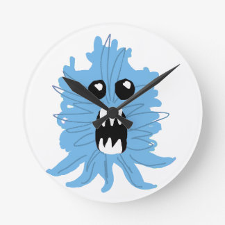 Blue Monster Wrapping Paper Round Clock
