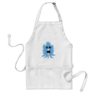 Blue Monster Wrapping Paper Standard Apron