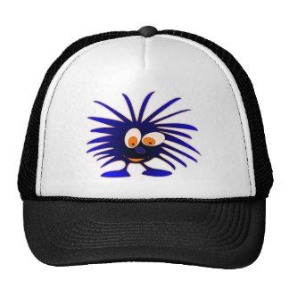 Blue monsters looking down mesh hats