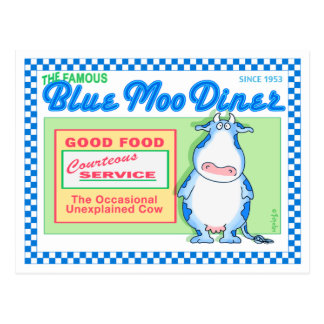 BLUE MOO DINER by Boynton Postcard