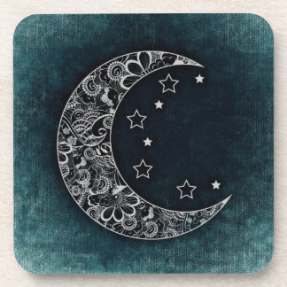 Blue Moon and Stars Beverage Coaster