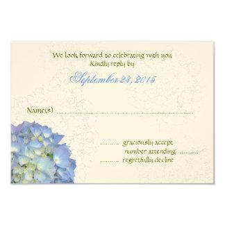 Blue Moon Art Hydrangea Wedding Reply Cards 9 Cm X 13 Cm Invitation Card