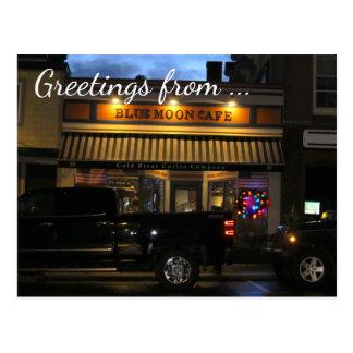 Blue Moon Cafe Greetings, Customizable Postcard