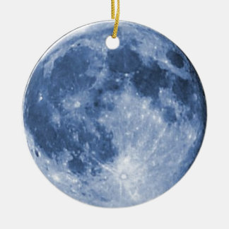 blue moon ceramic ornament