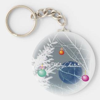 Blue Moon Christmas Keychain