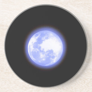 Blue moon beverage coaster
