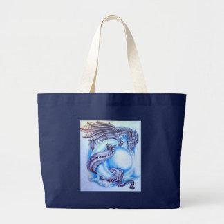 Blue Moon Dragon Canvas Bags
