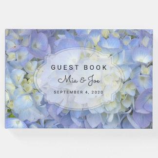 Blue Moon Hydrangea Custom Wedding Guest Book