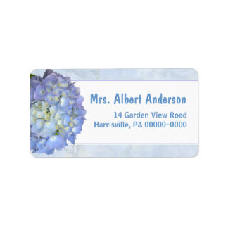 Blue Moon Hydrangea Single Name Address Label