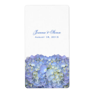 Blue Moon Hydrangea Wine Bottle Favor