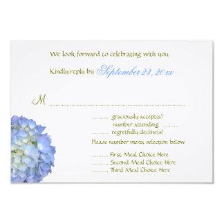 Blue Moon Menu Selection Wedding Reply Card