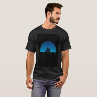 Blue Moon Pirate Ship Deep Waters Modern T-Shirt