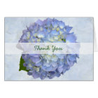 Blue Moon Thank You, Folded Hydrangea Note Card