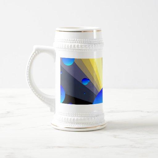 Blue Moons Gold Trim Stein Coffee Mug