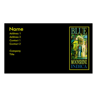 BLUE MOONSHINE INDICA BUSINESS CARDS