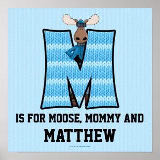 Blue Moose Monogram   ...