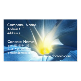Blue Morning Glory Business Card