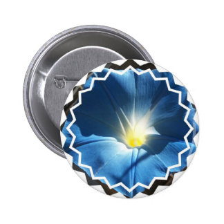Blue Morning Glory Button