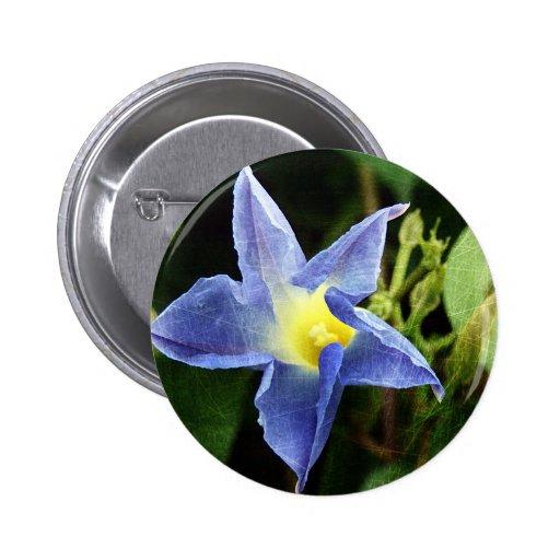 Blue Morning Glory Flower Pin