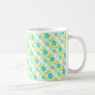 Blue Morning Glory Garden Coffee Mug