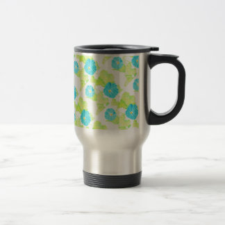 Blue Morning Glory Garden Travel Mug