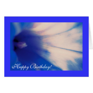 Blue Morning Glory, Happy Birthday Greeting Card