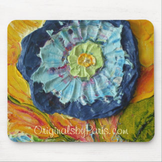 Blue Morning Glory Mouse Pad
