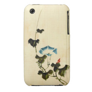 Blue Morning Glory Vine 1840 iPhone 3 Cover