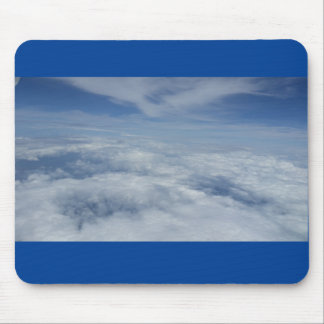 blue morning mouse pad