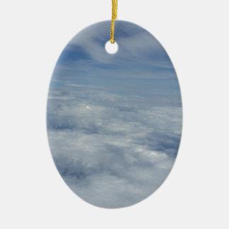 blue morning sky ceramic ornament