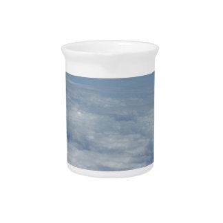 blue morning sky pitcher