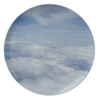 blue morning sky plate