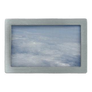 blue morning sky rectangular belt buckle